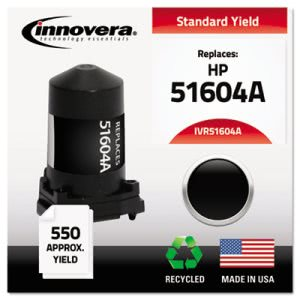 Innovera 51604A Compatible, Remanufactured, 51604A Ink, Black (IVR51604A)