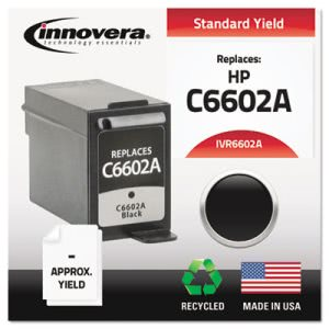 Innovera 6602A Compatible, Remanufactured, C6602A Ink, Black (IVR6602A)