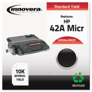 Innovera Remanufactured Q5942A(M) MICR Toner, 10000 Yield, Black (IVR5942MICR)