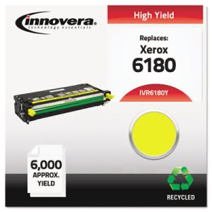 Innovera 6180Y Remanufactured, 113R00725 Toner, 6000 Yield, Yellow (IVR6180Y)