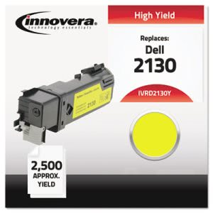 Innovera Compatible with 330-1438 (2130cn) Toner, 2500 Yield, Yellow (IVRD2130Y)