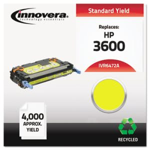 Innovera Remanufactured Q6472A (502A) Laser Toner, 4000 Yield, Yellow (IVR6472A)