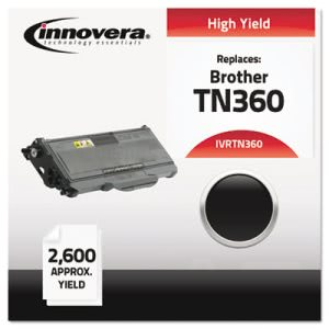 Innovera Remanufactured TN360 Laser Toner, 2600 Page-Yield, Black (IVRTN360)