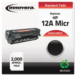 Innovera Remanufactured Q2612A(M) MICR Toner, 2000 Yield, Black (IVR2612MICR)