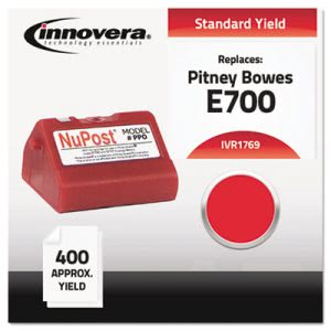 Innovera 1769 Compatible, Remanufactured, 769-0 Postage Meter, Red (IVR1769)
