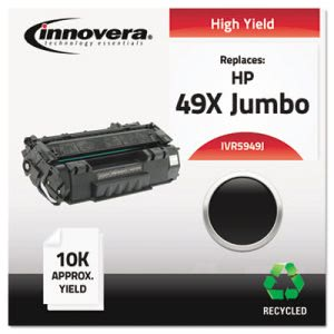 Innovera Remanufactured Q5949X(J) (49J)  Toner, 10000 Yield, Black (IVR5949J)