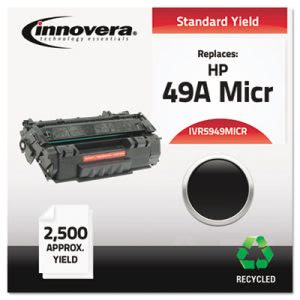 Innovera Remanufactured Q5949A(M) MICR Toner, 2500 Yield, Black (IVR5949MICR)
