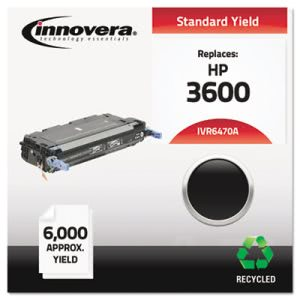 Innovera Remanufactured Q6470A (501A) Laser Toner, 6000 Yield, Black (IVR6470A)