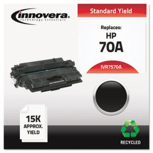 Innovera Remanufactured Q7570A (70A) Laser Toner, 15000 Yield, Black (IVR7570A)