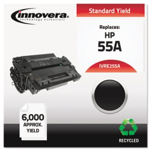 Innovera E255A Compatible Remanufactured Toner, 6000 Yield, Black (IVRE255A)