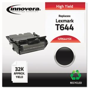 Innovera Remanufactured 64415XA (T644) Toner, 32000 Yield, Black (IVR64415X)