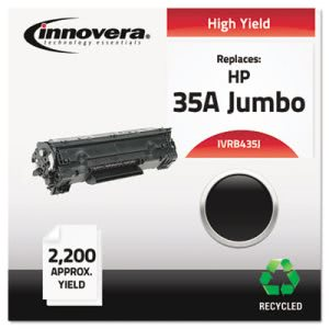 Innovera B435J Remanufactured Laser Toner, 2200 Yield, Black (IVRB435J)