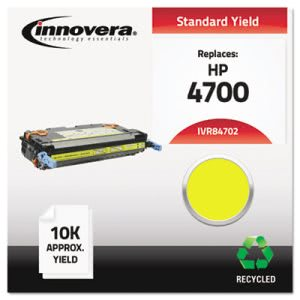 Innovera 84702 Remanufactured  Laser Toner, 10000 Yield, Yellow (IVR84702)