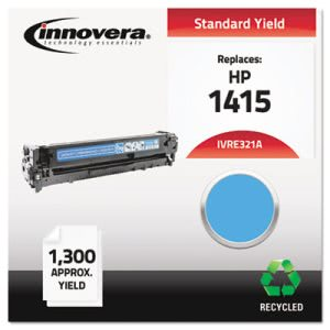 Innovera Remanufactured CE321A (128A) Laser Toner, 1300 Yield, Cyan (IVRE321A)