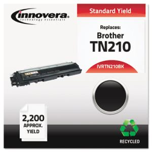 Innovera Remanufactured TN210BK Toner, 2200 Page-Yield, Black (IVRTN210BK)