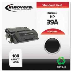 Innovera Remanufactured Q1339A (39A) Laser Toner, 18000 Yield, Black (IVR83039)