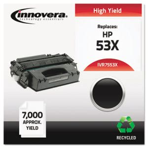 Innovera Remanufactured Q7553X (53X) Laser Toner, 7000 Yield, Black (IVR7553X)