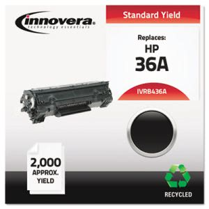 Innovera Remanufactured CB436A (36A) Laser Toner, 2000 Yield, Black (IVRB436A)