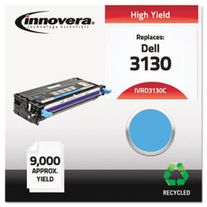 Innovera Remanufactured 330-1199 (3130) Toner, 9000 Yield, Cyan (IVRD3130C)