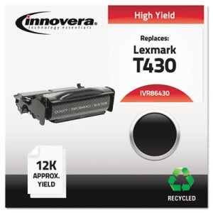 Innovera Remanufactured 12A8325 (T430) Toner, 12000 Yield, Black (IVR86430)