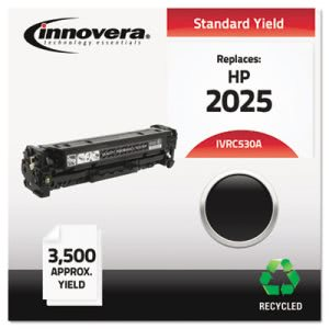Innovera Remanufactured CC530A (304A) Toner, 3500 Yield, Black (IVRC530A)