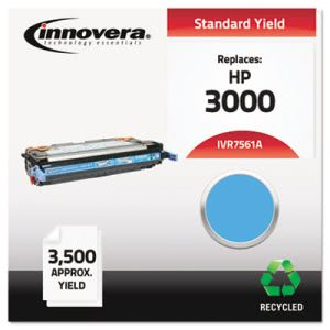 Innovera Remanufactured Q7561A (314A) Toner, 3500 Page-Yield, Cyan (IVR7561A)