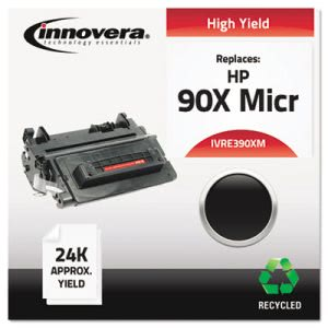 Innovera E390XM  Remanufactured Yield Toner, 24,000 Yield, Black (IVRE390XM)