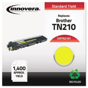 Innovera Compatible Remanufactured TM210Y Toner, 1400 Yield, Yellow (IVRTN210Y)