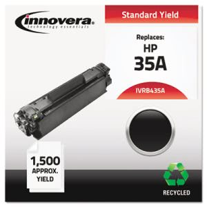 Innovera Remanufactured CB435A (35A) Laser Toner, 1500 Yield, Black (IVRB435A)