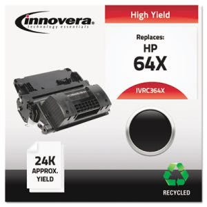 Innovera Remanufactured CC364X (64X)  Toner, 24000 Yield, Black (IVRC364X)