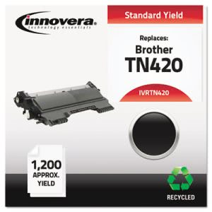 Innovera TN420 Compatible, Remanufactured, 1200 Page-Yield, Black (IVRTN420)