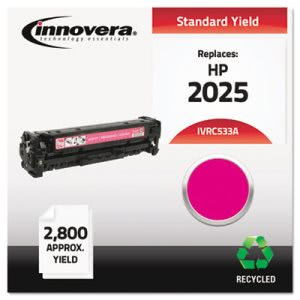 Innovera C533A Compatible Remanufactured Toner, 2800 Yield, Magenta (IVRC533A)