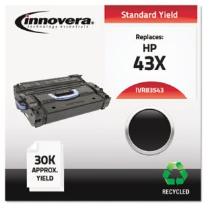 Innovera Remanufactured C8543X (43X) Laser Toner, 30000 Yield, Black (IVR83543)