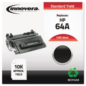 Innovera Compatible Remanufactured Laser Toner, 10000 Yield, Black (IVRC364A)