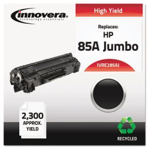 Innovera Compatible Remanufactured Toner, Yield, Black (IVRE285AJ)