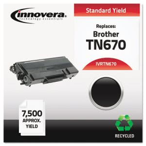 Innovera Remanufactured TN670 Laser Toner, 7500 Page-Yield, Black (IVRTN670)