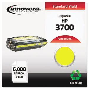 Innovera 83082A Compatible, Remanufactured, Laser Toner, Yellow (IVR83082A)