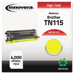 Innovera Remanufactured TN115Y Toner, 4000 Yield, Yellow (IVRTN115Y)