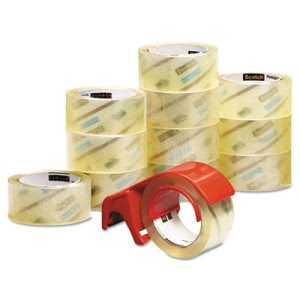 "Scotch Performance Packaging Tape, 1.88"" x 54.6 yards, 12 Pack (MMM375012DP3)"