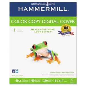 Hammermill Color Copy Digital Cover Stock, 8-1/2 x 11,  250 Sheets (HAM122549)