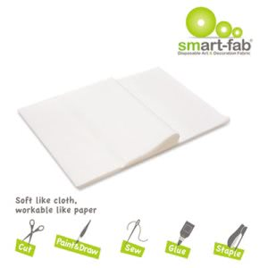 Smart Fab Disposable Fabric, 9 x 12 Sheets, White, 45 Sheets (SFB23809124510)