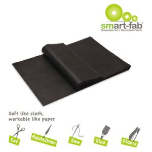 Smart Fab Disposable Fabric, 9 x 12 Sheets, Black, 45 Sheets (SFB23809124520)
