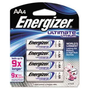 Energizer e² Lithium Batteries, AA, 4 Batteries Pack (EVEL91BP4)