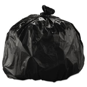 33 Gallon Black Trash Bags, 33x40, 22mic, 250 Bags (IBSS334022K)