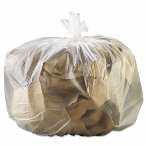 GEN 33 Gallon Clear Trash Bags, 33x39, 16mic, 250 Bags (GEN 333916)