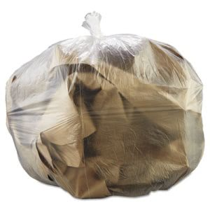 30 Gallon Clear Trash Bags, 30x37, 10mic, 500 Bags (ESXHDMP37CL)