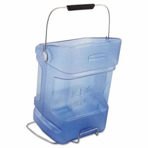 Rubbermaid Commercial Ice Tote, 5.5gal, Blue, With Hook Assembly (RCP9F54TBL)