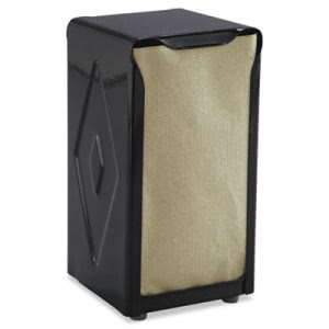 San Jamar Tabletop Napkin Dispenser, Tall Fold, Capacity: 150, Black (SJMH900BK)
