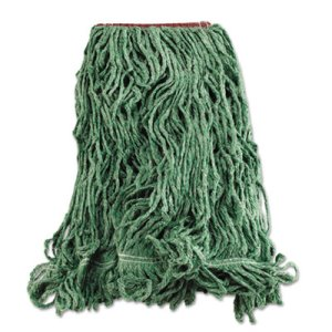 Rubbermaid D213 Super Stitch Blend Mop Heads, Green, Large, 6 Mops (RCPD213GRE)