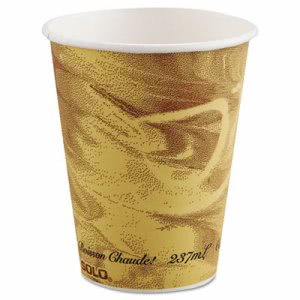 Solo Cup Company Mistique Polycoated Hot Paper Cup, 8oz, Brown (SCC378MS)